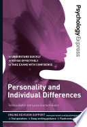 Psychology Express  Personality and Individual Differences  Undergraduate Revision Guide  Book
