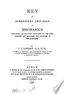An elementary text book of mechanics  kinematics and dynamics   Key