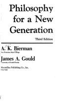 Philosophy for a New Generation Book PDF