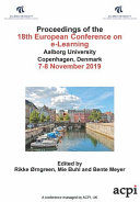 ECEL 2019 18th European Conference on e Learning