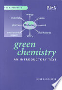 Green Chemistry Book PDF