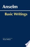 Anselm  Basic Writings