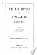 The New Method of Evaluation as Applied to     Etc   By Charles Lutwidge Dodgson   Book PDF