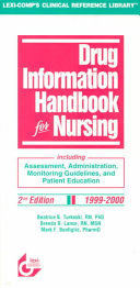 Drug Information Handbook for Nursing 1999 2000 Book