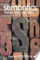 Semantics : Primes and Universals