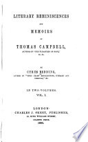 Literary Reminiscences And Memoirs Of Thomas Campbell Book PDF