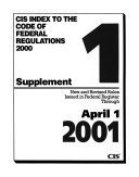 Index to the Code of Federal Regulations