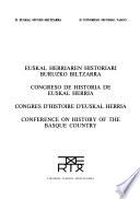Euskal Herriaren Historiari Buruzko Biltzarra: Hasieratik kristautzera arte