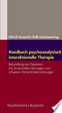 Handbuch psychoanalytisch interaktionelle Therapie