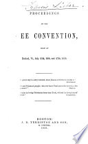 Proceedings of the Free Convention