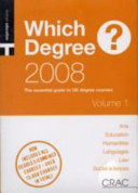 Which Degree? 2008 2 Vol Set