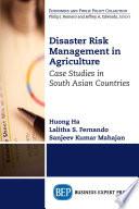 Disaster Risk Management in Agriculture