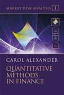 Market Risk Analysis  Quantitative Methods in Finance