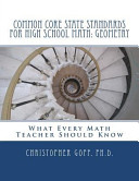 Common Core State Standards for High School Math  Geometry