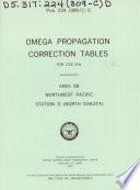 Omega Propagation Correction Tables for 13 6 KHz