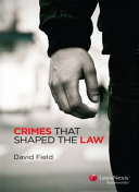 Cover of Crimes That Shaped the Law
