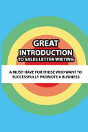 Great Introduction To Sales Letter Writing