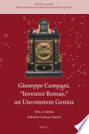 Giuseppe Campani Inventor Romae An Uncommon Genius