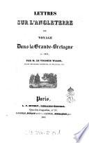 Lettres sur l'Angleterre, bou, Voyage dans la Grande-Bretagne en 1829