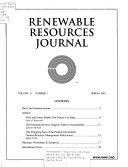 Renewable Resources Journal