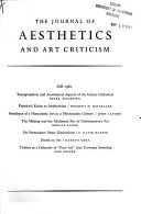 The Journal Of Aesthetics And Art Criticism