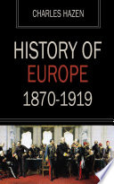 History of Europe 1870 1919 Book PDF