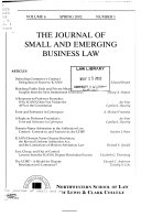 The journal of small and emerging business law