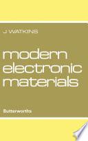 Modern Electronic Materials Book