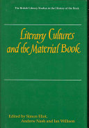 Literary Cultures and the Material Book Book