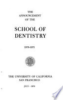 Announcement of the School of Dentistry