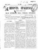 Rivista italiana di scienze, lettere ed arti colle Effemeridi della pubblica istruzione