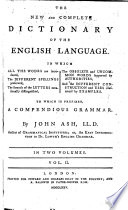 The New And Complete Dictionary Of The English Language Book