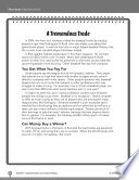 Test Prep Level 5  A Tremendous Trade Comprehension and Critical Thinking Book
