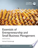Essentials of Entrepreneurship and Small Business Management , Global Edition
