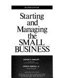 Starting and Managing the Small Business
