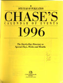 Chase's ... Calendar of Events