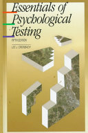 Cover of Essentials of Psychological Testing