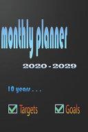 2020   2029 Ten   Years Monthly Planner