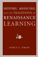 History  Medicine  and the Traditions of Renaissance Learning