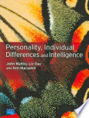 Personality  Individual Differences and Intelligence Book