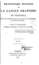 Dictionnaire françois de la langue oratoire et poétique ebook