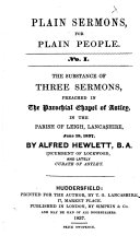 The Substance of Three Sermons Preached ... June 18, 1837