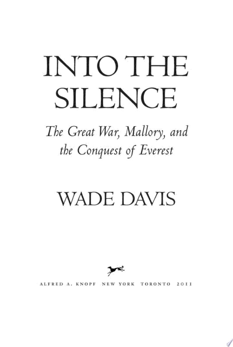 Into the Silence banner backdrop
