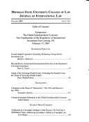 Michigan State Journal of International Law