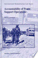 Accountability Of Peace Support Operations