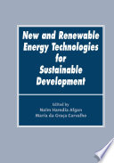 New and Renewable Energy Technologies for Sustainable Development