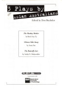 Cover of Three plays by Asian Australians