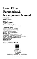 Law Office Economics   Management Manual