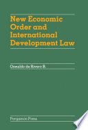New Economic Order And International Development Law