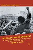 The Black Campus Movement Pdf/ePub eBook
